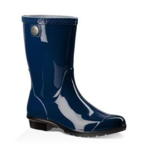 Ugg Siena Blue Rain Boots Galoshes Womens New